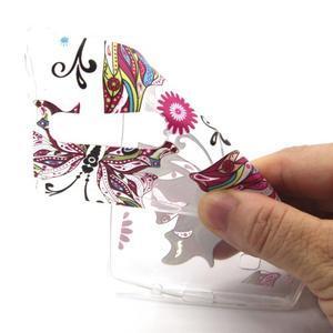 Transparentní gelový obal na mobil LG Spirit - motýl - 4