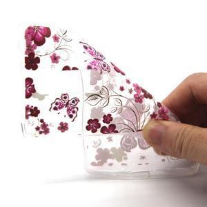Transparentní gelový obal na mobil LG Spirit - motýlci - 4