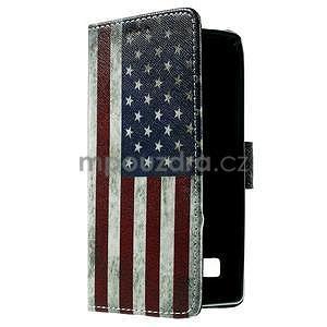 Peněženkové pouzdro na LG Spirit - vlajka US - 4