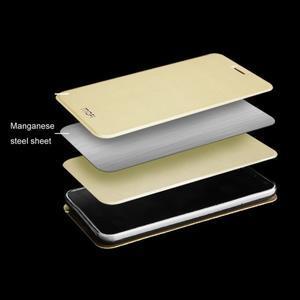 Vintage PU kožené pouzdro s kovovou výstuhou na Meizu MX5 -  zlaté - 4