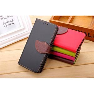 Knížkové PU kožené pouzdro na mobil Meizu MX5 - černé - 4