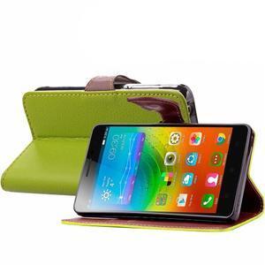Knížkové PU kožené pouzdro na mobil Meizu MX5 - zelené - 4