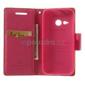 Style peněženkové pouzdro HTC One Mini 2 - žluté - 4
