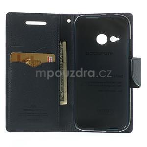 Style peněženkové pouzdro HTC One Mini 2 - fialové - 4