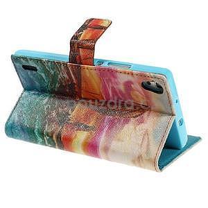 Obrazové peněženkové pouzdro na Huawei Ascend P7 - oceán - 4