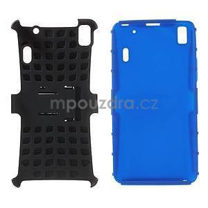 Odolné pouzdro na Lenovo K3 Note a Lenovo A7000 - modré - 4