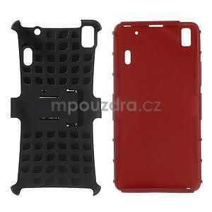 Odolné pouzdro na Lenovo K3 Note a Lenovo A7000 - červené - 4
