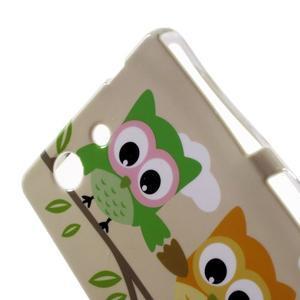 Gelový obal pro Sony Xperia Z3 mini - sovy - 4