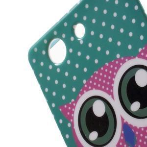 Gelový obal pro Sony Xperia Z3 mini - zamilovaná sova - 4