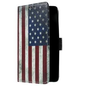 Cross peněženkové pouzdro na Xiaomi Mi4 - US vlajka - 4