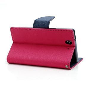 Mr. Goos peněženkové pouzdro na Sony Xperia Z - rose - 4