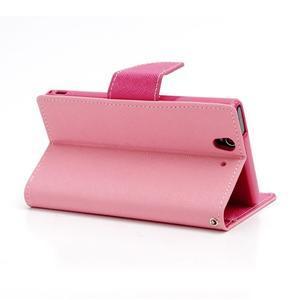 Mr. Goos peněženkové pouzdro na Sony Xperia Z - růžové - 4