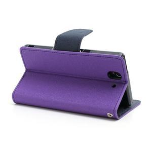 Mr. Goos peněženkové pouzdro na Sony Xperia Z - fialové - 4
