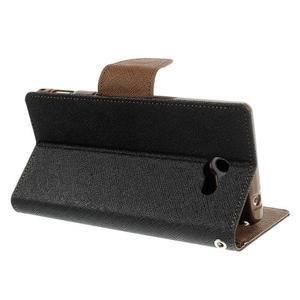 Mr. Goos peněženkové pouzdro na Sony Xperia M2 - černé/hnědé - 4