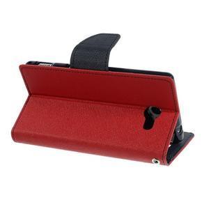 Mr. Goos peněženkové pouzdro na Sony Xperia M2 - červené - 4