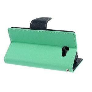 Mr. Goos peněženkové pouzdro na Sony Xperia M2 - azurové - 4