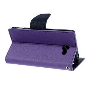 Mr. Goos peněženkové pouzdro na Sony Xperia M2 - fialové - 4