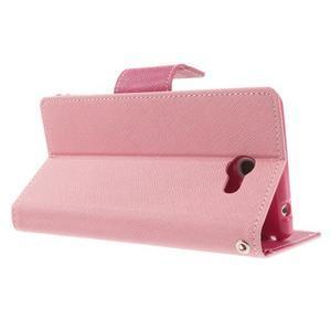Mr. Goos peněženkové pouzdro na Sony Xperia M2 - růžové - 4