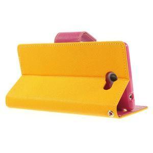 Mr. Goos peněženkové pouzdro na Sony Xperia M2 - žluté - 4