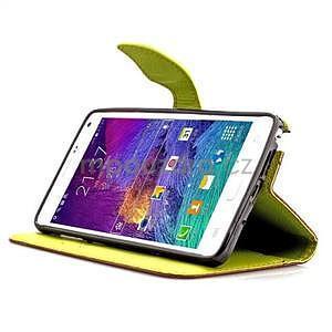 Peněženkové pouzdro s poutkem na Samsung Galaxy Note 4 - hnědé - 4