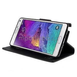 Stylové peněženkové pouzdro na Samsnug Galaxy Note 4 - černé - 4