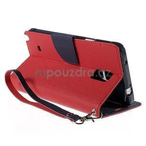 Stylové peněženkové pouzdro na Samsnug Galaxy Note 4 - červené - 4
