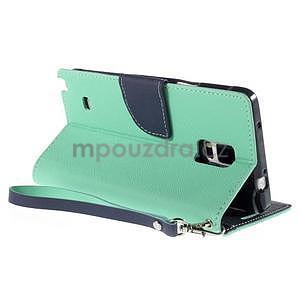 Stylové peněženkové pouzdro na Samsnug Galaxy Note 4 - azurové - 4