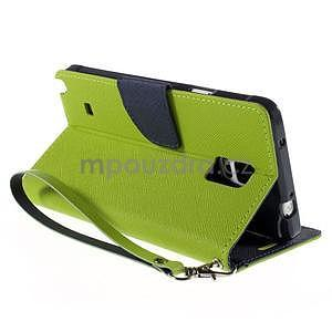 Stylové peněženkové pouzdro na Samsnug Galaxy Note 4 - zelené - 4