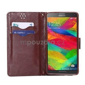 Elegantní penženkové pouzdro na Samsung Galaxy Note 4 - černé - 4