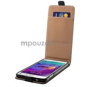 Flipové pouzdro pro Samsugn Galaxy Note 4 - černé - 4