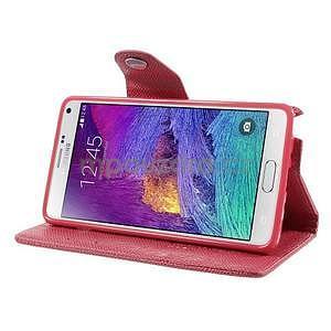 Zapínací peněženkové poudzro Samsung Galaxy Note 4 - rose - 4