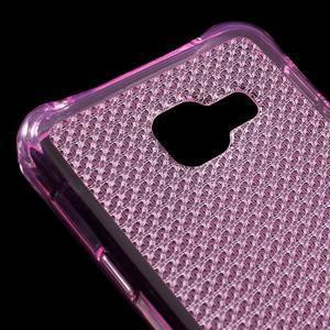 Diamonds gelový obal na Samsung Galaxy A3 (2016) - růžový - 4