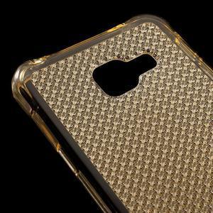 Diamonds gelový obal na Samsung Galaxy A3 (2016) - zlatý - 4
