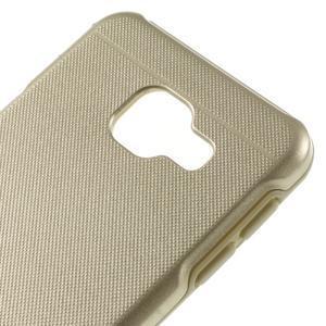 Odolný ochranný obal 2v1 na mobil Samsung Galaxy A3 (2016) - zlatý - 4