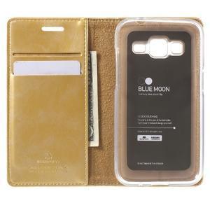 Moon PU kožené pouzdro na mobil Samsung Galaxy Core Prime - zlaté - 4