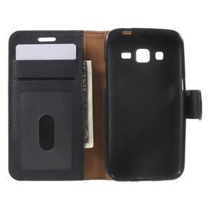 Clothy peněženkové pouzdro na Samsung Galaxy Core Prime - černé - 4