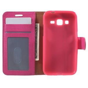 Clothy peněženkové pouzdro na Samsung Galaxy Core Prime - rose - 4