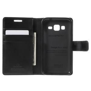Moonleather PU kožené pouzdro na Samsung Galaxy Core Prime - černé - 4