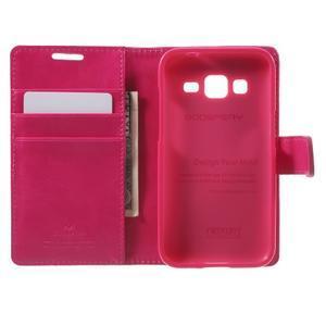 Moonleather PU kožené pouzdro na Samsung Galaxy Core Prime - rose - 4