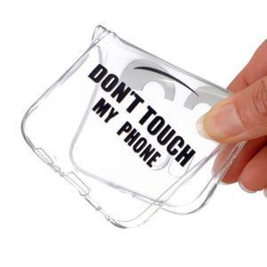 Transparentní gelový obal na Samsung Galaxy Core Prime - nedotýkat se - 4