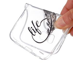 Transparentní gelový obal na Samsung Galaxy Core Prime - love - 4