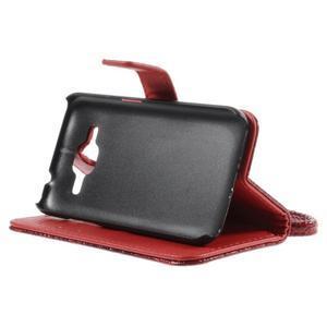 Croco peněženkové pouzdro na Samsung Galaxy Core Prime - červené - 4