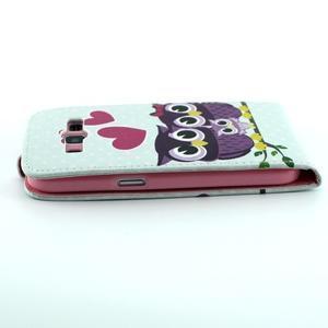 Flipové pouzdro na mobil Samsung Galaxy Core Prime - zamilované sovy - 4