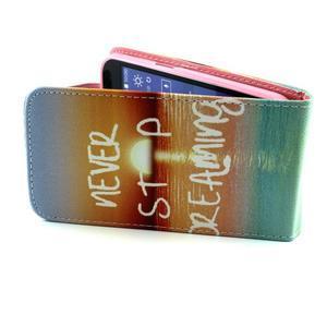 Flipové pouzdro na mobil Samsung Galaxy Core Prime - nepřestávej snít - 4