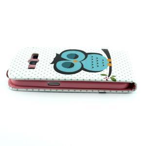Flipové pouzdro na mobil Samsung Galaxy Core Prime - sova - 4