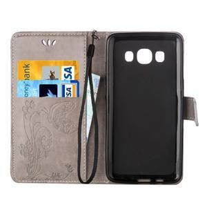 Magicfly PU kožené pouzdro na mobil Samsung Galaxy J1 (2016) - šedé - 4