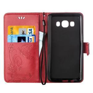 Magicfly PU kožené pouzdro na mobil Samsung Galaxy J1 (2016) - červené - 4