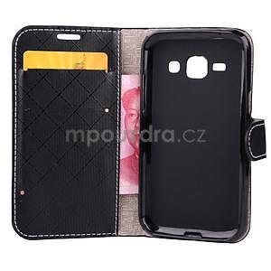 Elegantní pouzdro na Samsung Galaxy J1 - černé - 4