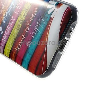 Gelový kryt na Samsung Galaxy J1 - barvy dřeva - 4