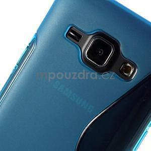 Modrý gelový s-line obal Samsung Galaxy J1 - 4